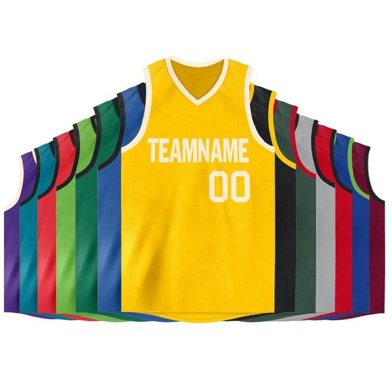 Digital printing wholesale reversible thailand blank sublimation oem jersey basketball design