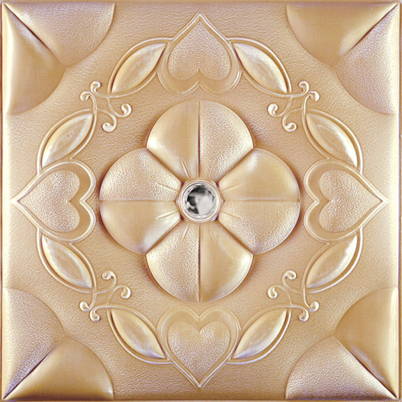 Interior 3D Faux Leather Covering Wall Panel