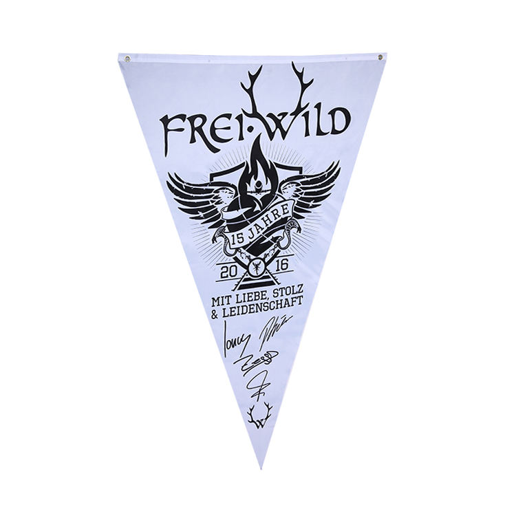 advertising flying custom sublimation white blank felt triangle pennant flag