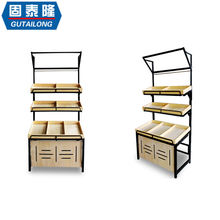 Customized CE approved supermarket fruit vegetable rack for store