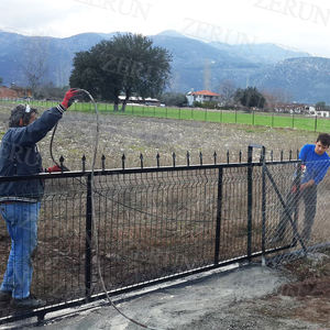 Directly manufacturer yard guard PVC coating welded wire fence panels/garden weld wire fence