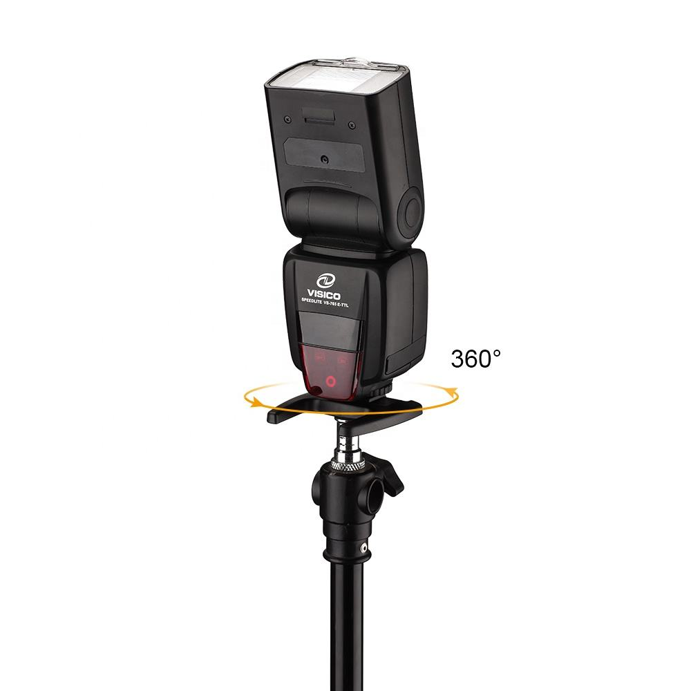 VISICO TTL 2.4G high-speed wireless camera flash lithium battery speedlite flash for Canon Nikon