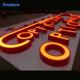 Custom business outdoor Advertising 3d letter light channel led sign