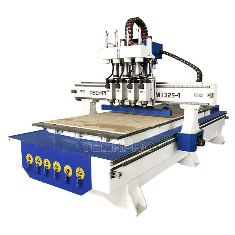 The Best Wood CNC Router Machine 4x8 multi head cnc router for sale with affordable price