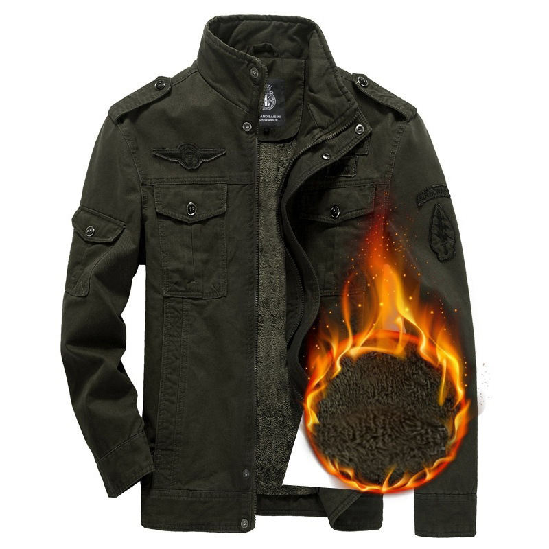 AMERICAN Gentleman Winter Warm Outerwear Coats Trend Men Lapel neck Jackets Black Green Brown Cottons Men Buttons Casual Jackets