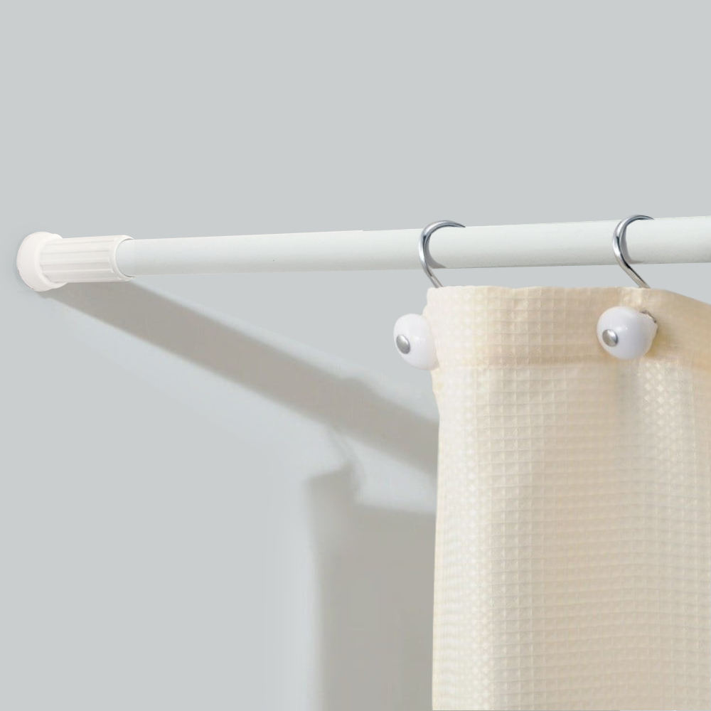 ALY HOME hot sale magnetic straight I shaped telescopic adjustable shower curtain rod