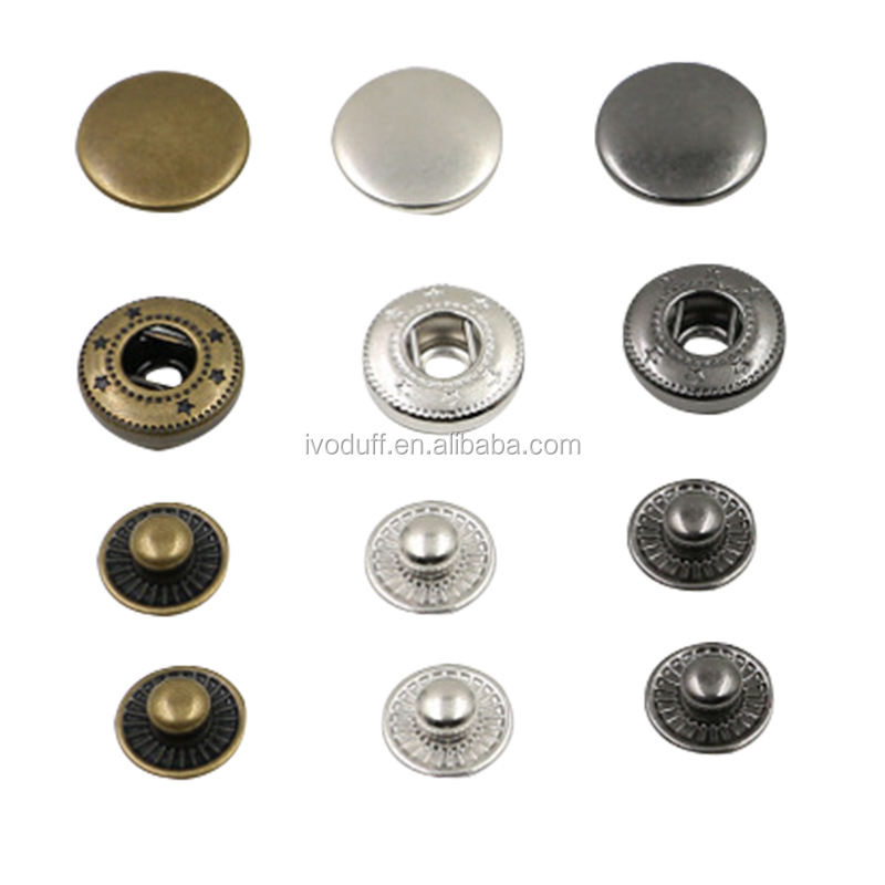 Wholesale Metal Snap Button Type For Jacket/metal buttons for jeans