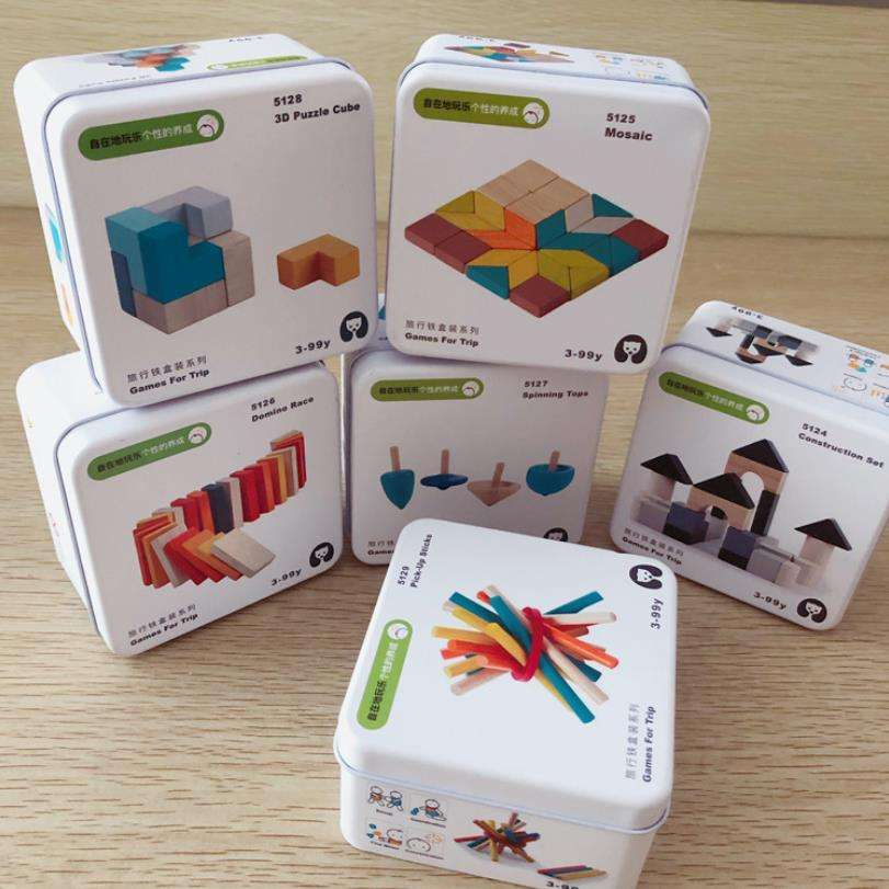 Hot Sale Children Educational Toy Iron Box Packaging Puzzle Game Multi-style Color Kid Building Blocks