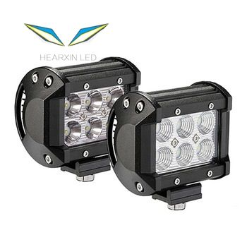 4 Inch 18W LED Work Light Bar Combo Offroad 4x4 Fog Light Driving Light Lamp for Truck 12V Headlight for Boat