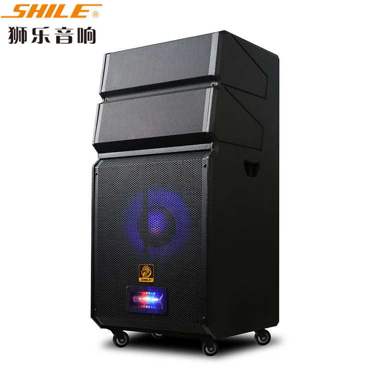 big DJ power line array 15 inch outdoor coating painted LED light home theater party PA speaker sound system