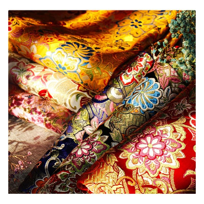 Japan style fashion fabric brocade fabric jacaquard fabric for kimono garment