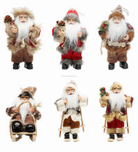 "8""Inch Christmas Santa Claus Ornaments Decorations Tree Hanging Figurines Collection Doll Pendant Small Traditional Holding"