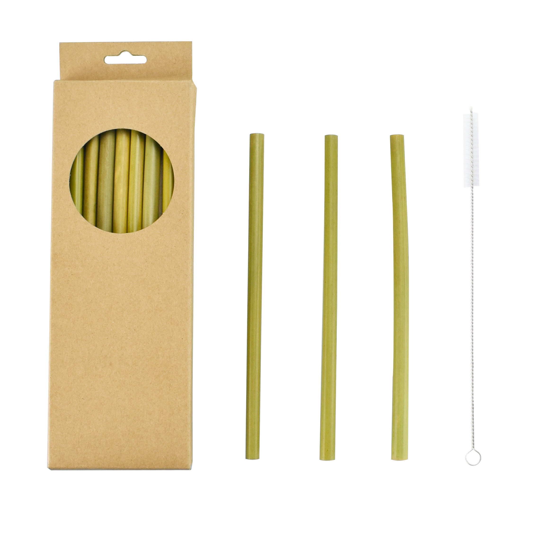 Bamboo Straw Wholesale Reusable FDA Approved 100% Natural Wooden Bamboo Drinking Straw With Box