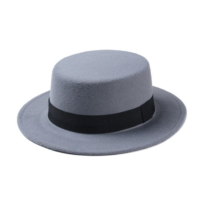 New Fashion Women And Men Black Orange Wool Felt Wide Brim Fedora Gambler Hat