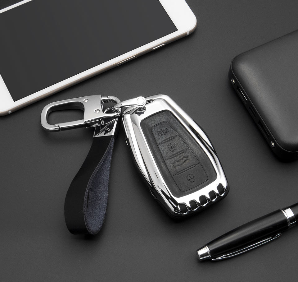 Fashionable key case made of metal and silicone material for Geely car Binrui and Binyue