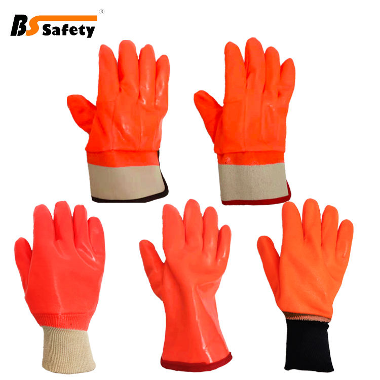 new design PVC coated winter cold weather oil-resistant heavy duty work gloves