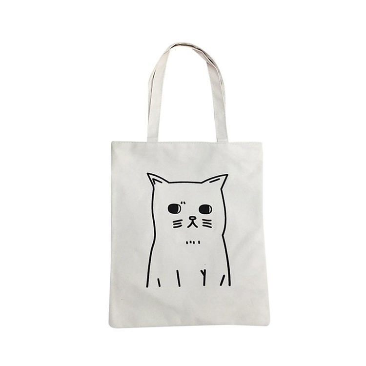 Printing [ Canvas Bag ] Organic Cotton Bag Customized Logo Printing High Quality Eco Organic Foldable Shopping Canvas Cotton Handle Bag