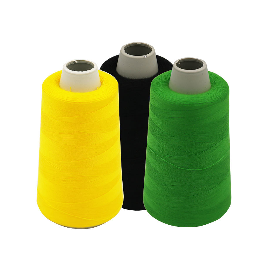 5000m cotton bag raw white spun polyester industrial spools sewing machine tailoring thread
