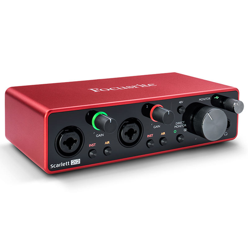 Focusrite Scarlett 2i2 3rd Gen USB Professional Audio Interface Sound card Sing Music Live Recording Guitar band