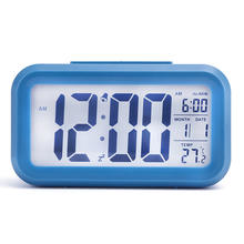 modern design digital  LED Table Desk Clock Alarm Clock 24 or 12 Hour Display home living room decoration