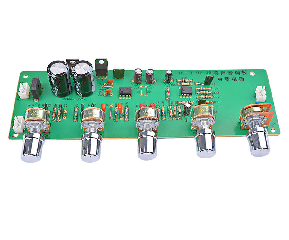 2.0 HI FI AN4558 Audio Preamplifier Papan Bass Midrange Treble Balance Adjustable Audio Preamp Papan dengan Kontrol Nada
