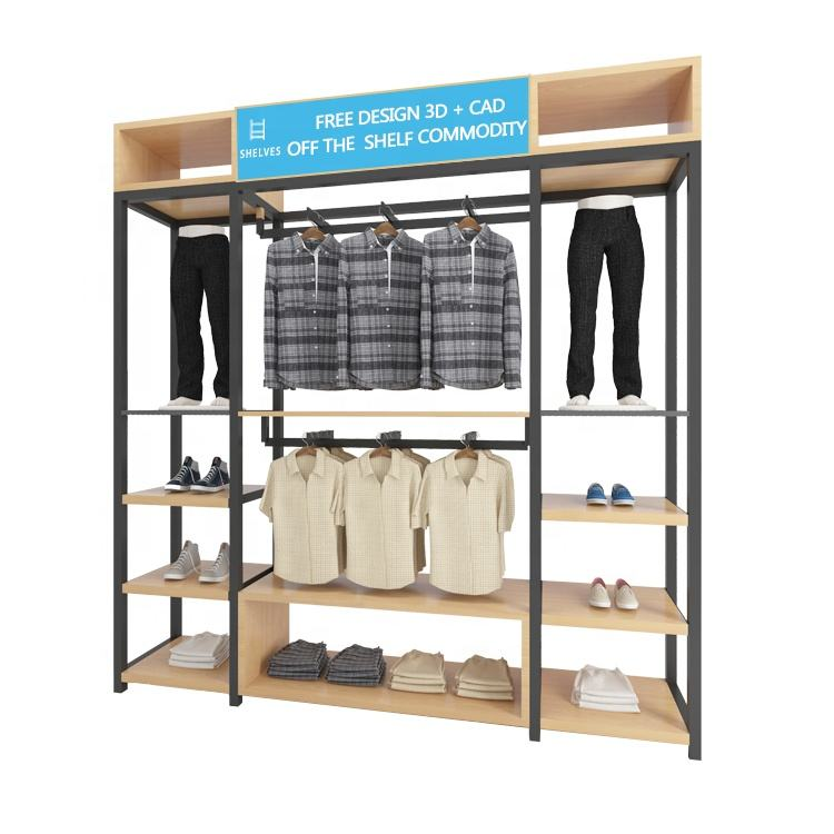 New Design Metal Gold Dress Decorative Retail Shop Stand Rack Clothing Store Display Clothes Display Rack