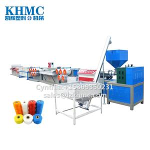 PET monofilament extruding machine for rope by waste PET bottle flakes and scrape
