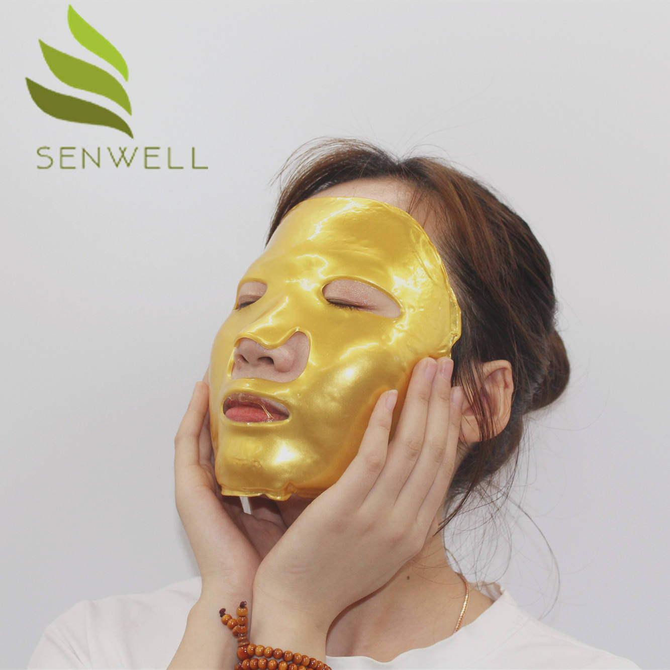 Private Label Hydro Golden Whitening Hyaluronic Acid Gold Bio Crystal Collagen Facial Mask