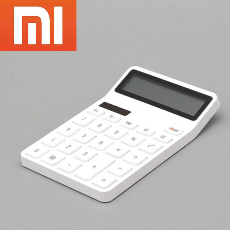 Xiaomi youpin LEMO desk calculator with solar and battery 4000 hours for office and home