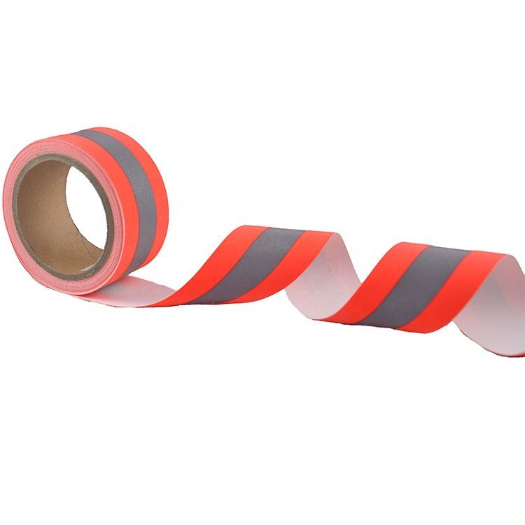 Orange silver orange Reflective Tape Fabric tape Colorful Flame Retardant Reflective Material for FR Work wear