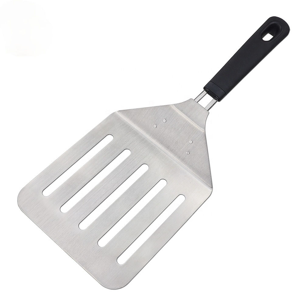 Top Quality PP & TPR Handle Pizza Slotted Spatula Turner