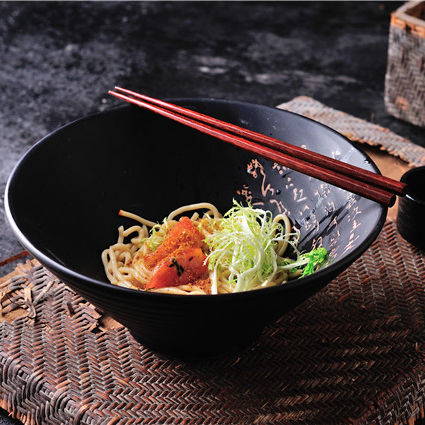 Ceramic tableware noodle bowl Japanese style matte noodle bowl