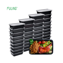 eco friendly restaurant  black rectangular plastic pp  microwave disposal food takeawway container