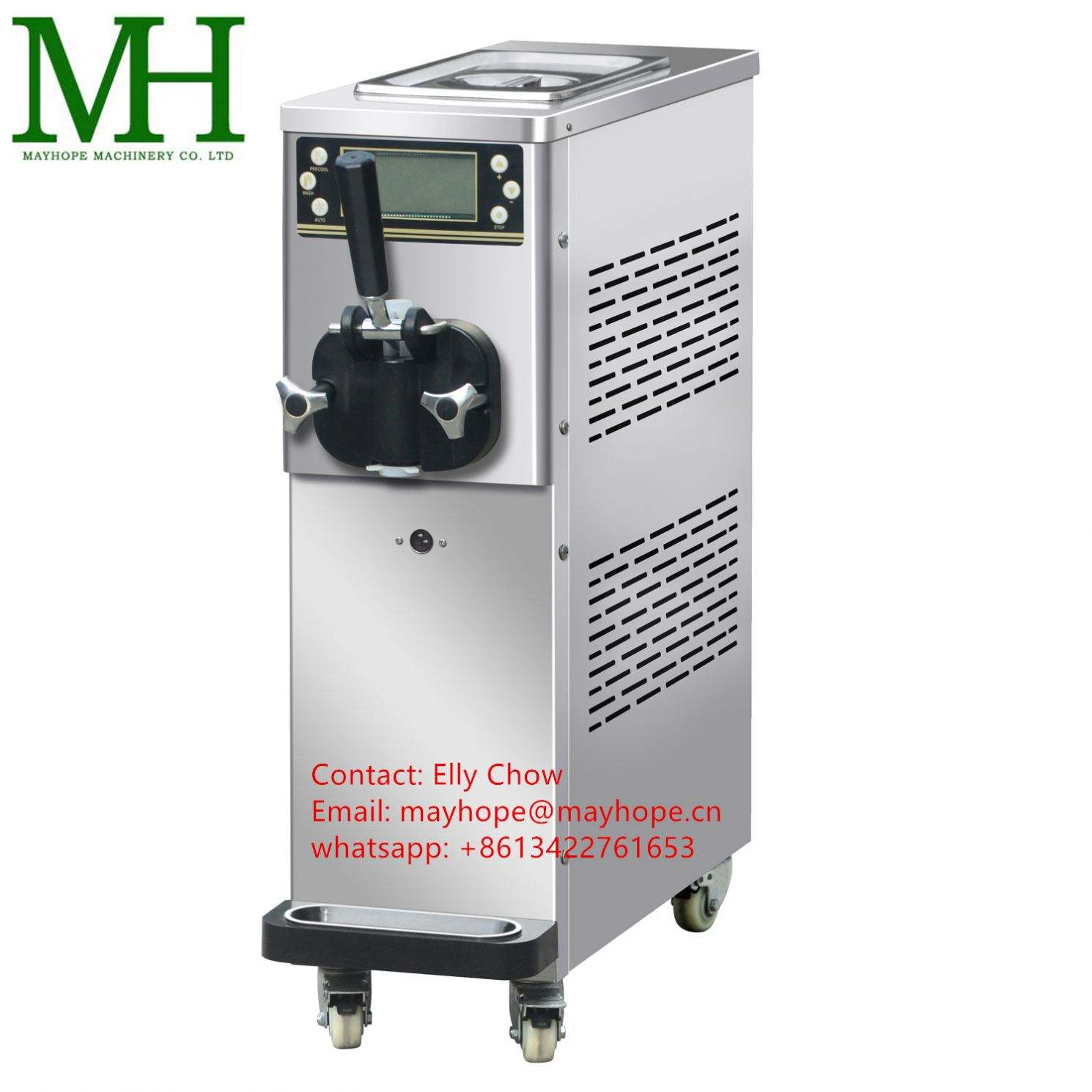 Hot selling 2+1 mixed flavour soft ice cream making machine BQL-818T