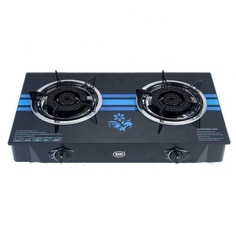 Medio caliente de vidrio de mesa de hierro fundido integrado cocina hogar tapa <span class=keywords><strong>quemador</strong></span> de la estufa de gas
