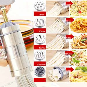 Stainless steel manual noodle press machine household mini hand pasta making machine with 5 models