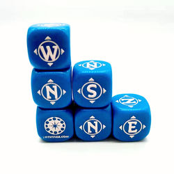 High Quality Acrylic Custom Engraved logo game dice