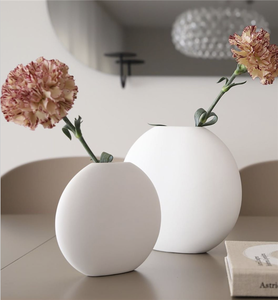 Nordic minimalism style wholesale craft gift home tabletop living room decor matt ceramic vase