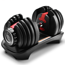 Gym fitness man power weight lifting training 24kg 40kg quickly automatic adjustable dumbbell weight set