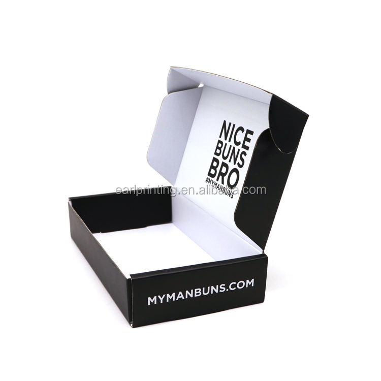 Custom Flat Clothing Cheap Corrugated Paper Mailing Tuck Top Box For Gift