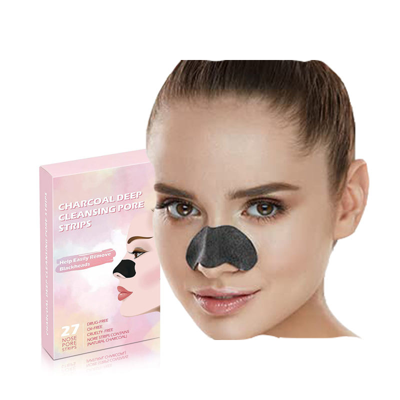 Best Sale ODM OEM Custom Packing Deep Cleansing Charcoal Pore Strips for Blackhead Removal nose mask