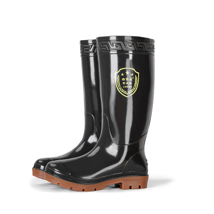 High Quality Men Waterproof pvc Knee Boots AntiのMen Rain Shoes Rubber Boots Knee High