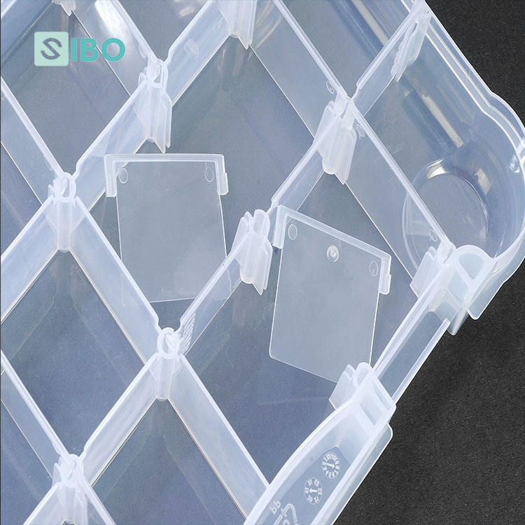 Portable Clear PP Plastic Transparent Fishing Tackle Box