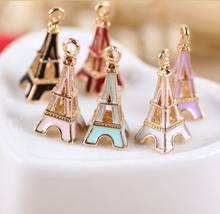 New design alloy gold Eiffel tower jewelry charm pendant wholesale