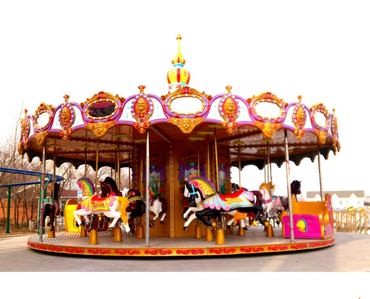 Amusement Park Ride Carousel 24P Carousel Horse Rides For Playground