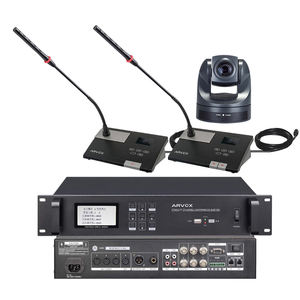 Wired discussion digital audio conference microphone system paperless auto tracking camera voting video conference system