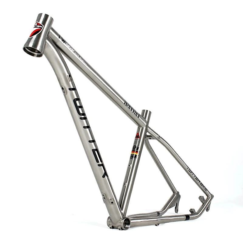 wholesale bicycle parts reflective twitter 27.5 29er titanium mountain bike frame