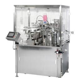 Glass syringe vaccum filling and closing machine