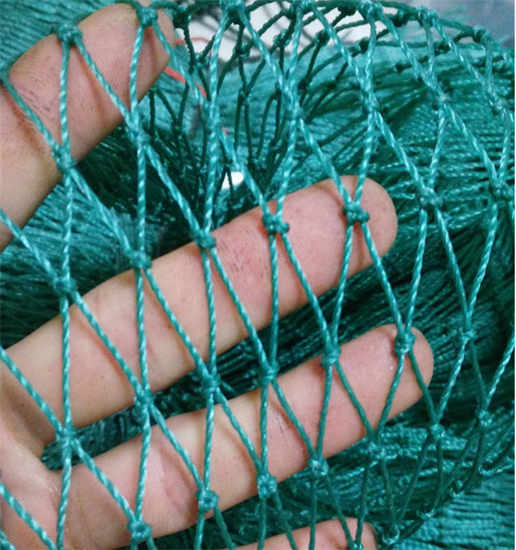 Finished Produc Fishing Network 6 Strand-24 Strands Traw Net Single-Layer Fish Tool Crops Fence Network Cage Material