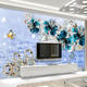 Large 8d Seamless 5D Bump Wall Painting 3D Embossed Jewelry TV Background Wall Murals New Design